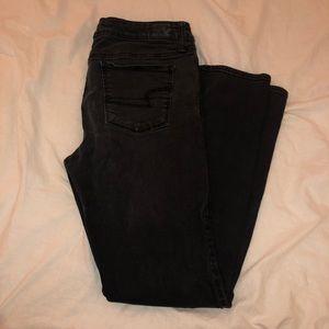 American Eagle Black Skinny Jeans Size 12 Regular